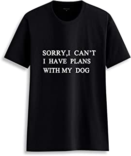 Gnpolo Womens Funny Saying T Shirts - Sorry I Can't I Have Plans with My Dog Tees Tops
