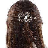 Viking Celtic Hair Clips Hairpin-Wiccan Tree of Life Hair Clip Men Hair Sticks Hairpin for Long Hair Slide Irish Hair Accessories Celtic Knot Hair Pin Viking Jewelry Women