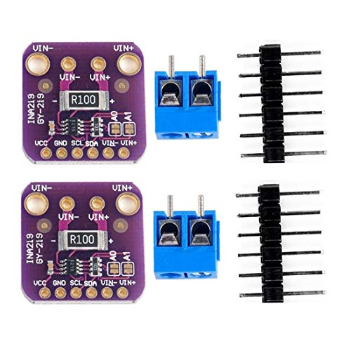 HiLetgo 2pcs INA219 High Precision I2C DC Current Sensor Breakout Power Current Monitor Sensor Module