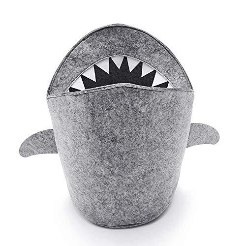 Cesta Bebe Amazon.Umiwe Cesta De Almacenamiento De Fieltro Organizador Grande Diseno De Tiburon Contenedor De Tela Cesto De Ropa Para Oficina Habitacion Manta Juguetes