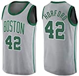 NBA Basketball Jersey Boston Celtics 42# al Horford clásico sin Mangas Chaleco de Baloncesto Camiseta Transpirable Moda Masculina (Size : Small)