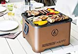 Barbecue Grill Happy portatile INNOVATIVO Funzionamento a PELLET salvaspazio - Corten