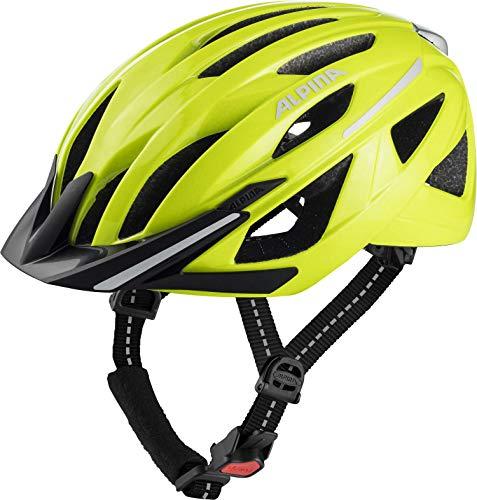ALPINA Unisex– Erwachsene Haga Fahrradhelm, be visible gloss, 51-56 cm