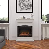 Ameriwood Home Lamont Electric, White Fireplace