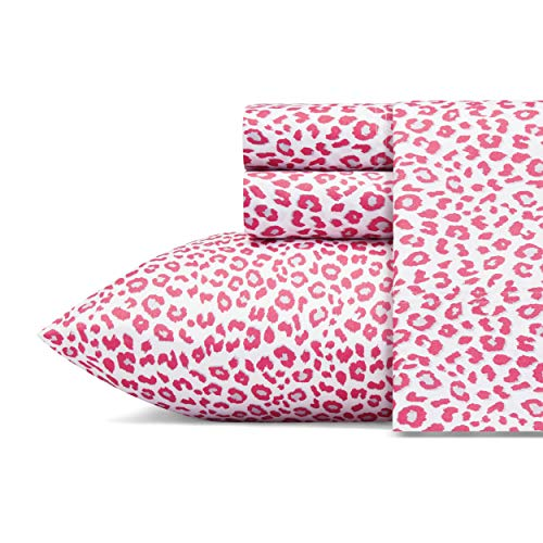 Betsey Johnson Performance Collection Bed Sheet Set-Lightweight, Breathable, Temperature Regulating Fabric. Super Soft, Easy Care Seasons, Twin, Leopard