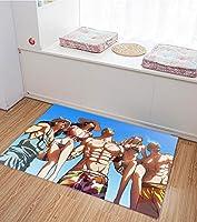 海贼王 ワンピース One Piece地毯 地垫 可洗 时尚 可爱 儿童 房间 绘画 热毯 可水洗 舒适干爽 触感柔软 可折叠 适用于地暖房-90X60CM-A_60x90cm