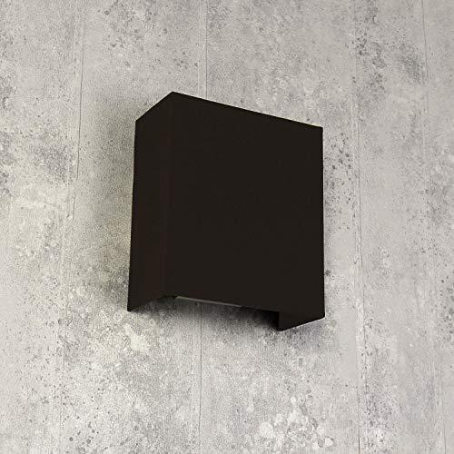 Moderne wandlamp ALICE bruin stoffen kap E27 vierkante loft design wandlamp woonkamer hal