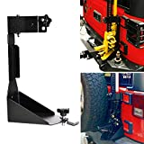 OMOTOR Off-Road Tailgate High Lift Jack Mount Bracket fit for Jeep Wrangler JK 2007 2008 2009 2010 2011 2012 2013 2014 2015 2016 2017 2018 (JK Tailgate Hi Lift Jack Mount Bracket)