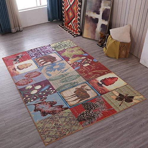 QFF tapijt eenvoudige retro tapijt huis woonkamer slaapkamer studie anti-slip mat kunst decoratie QFF 140x200cm