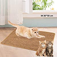 ✔ 【Cat Scratching Mat】: Attracts your cat and gives them somewhere to sharpen claws. Let the cat away from the sofa and other furniture to reduce the damages. This mat is not only a simple sisal mat but also a healthy care style for your loving kitte...