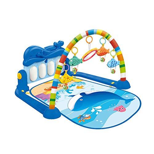 SMUOO Marine Animal Fitness Frame mit Klavierspielmatte mit Licht und Ton Lernteppich Early Education Activity Gym Spielmatte Toy-Wasserlebewesen