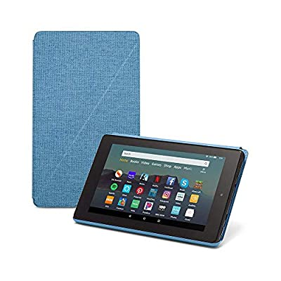 """Fire 7 Tablet (7"""" display, 32 GB) - Blue + Amazon Standing Case (Twilight Blue) by"""