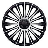 J-Tec J17550 Austin - Tapacubos (17 Pulgadas), Color Plateado y Negro