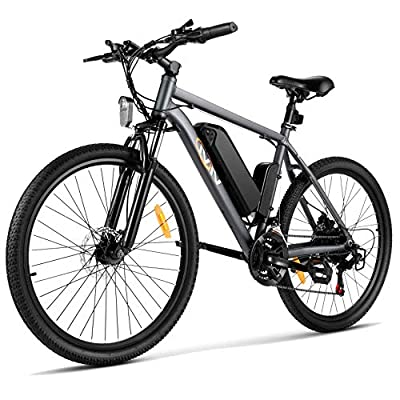 Vivi S2 Electric Bike Electric Mountain Bike E-Bike, 26'' Electric Bicycle 20Mph with 36V 8Ah Removable Lithium-Ion Battery, 250W Motor and Shinmano Professional 21 Speed, Gray