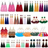 12 Pairs Teardrop Crystal Drop Dangle Earrings...