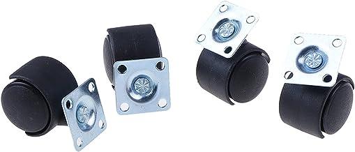 """ZXVC 1 """"10kg 1 stk/4 stuks/lot Wit PP Nylon Roller Wielen Castor Universele Swivel Casters 605 (Kleur: Rood)"""