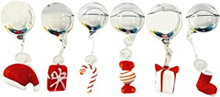 OMEM Christmas Aquarium Float Ball, Floating Snowman, Santa Claus, and Christmas Tree, Christmas Set, Aquarium Décor Ornaments (6 Pack)