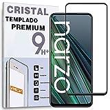 Protector de Pantalla Curvo para OPPO REALME NARZO 30 5G, Negro, Cristal Vidrio Templado Premium, 3D / 4D / 5D, Anti Roturas