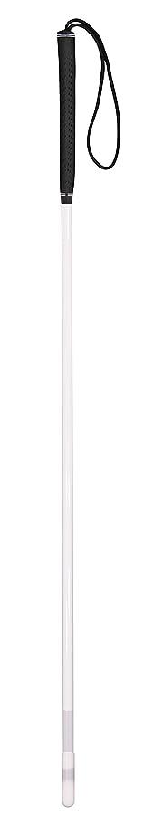 エクステント乗算高齢者【非課税】 豊通オールライフ 盲人用白杖 (グラス ゴルフグリップ) 全長120cm 重量155g 普通型 ストレート?直杖 本体グラスファイバー製 手元ゴム製 盲人用 安全杖 蛍光テープ付 日本製