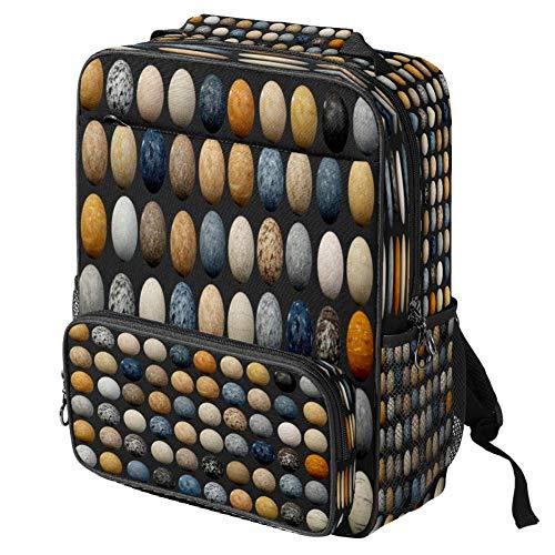 Mochila escolar informal Marie Feebanana con estampado de hojas para ordenador portátil, mochila multifunción, Patrón #2 (Multicolor) - backpacks013
