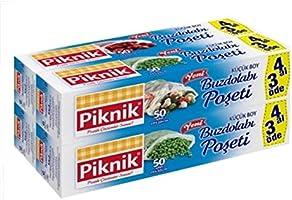 Piknik Gıda Ambalaj Buzdolabı Poşeti Küçük 4 Al 3 Öde 1528