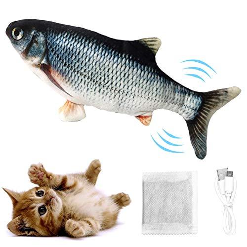 SANGSHI Elektrisches Fisch, Katzenspielzeug, Wiederaufladbar Mit USB Kabel-Fisch Spielzeug Für Katze Zum Spielen,beißen,kauen Und Treten, Interaktives Spielzeug Für Katzen (A)