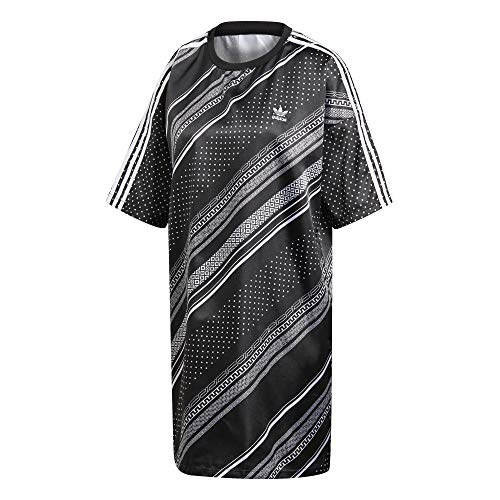 adidas Trefoil Vestido de Tenis, Mujer, Negro, 34