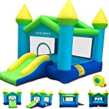 Children's Outdoor Inflatable Bouncers, Kids Bouncer with Air Blower, Jumping Castle, for Outdoor and Indoor, Bouncy Castle with Durable Sewn and Extra Thick, Great Idea Gift (Multicolour)