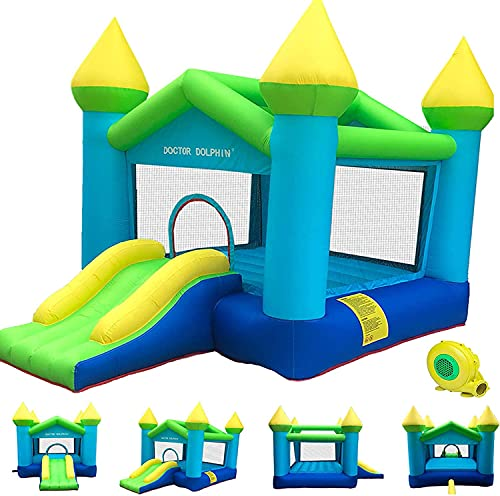Children's Outdoor Inflatable Bouncers, Kids Bouncer with Air Blower, Jumping Castle, for Outdoor...
