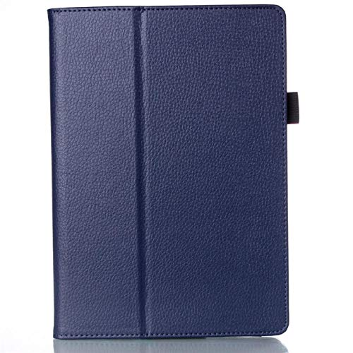 Funda de Tableta para Lenovo A7600 Idea Tab A10-70 A7600H A7600F Funda de Soporte de Cuero PU Suave para Funda A7600 10,1-Azul Oscuro