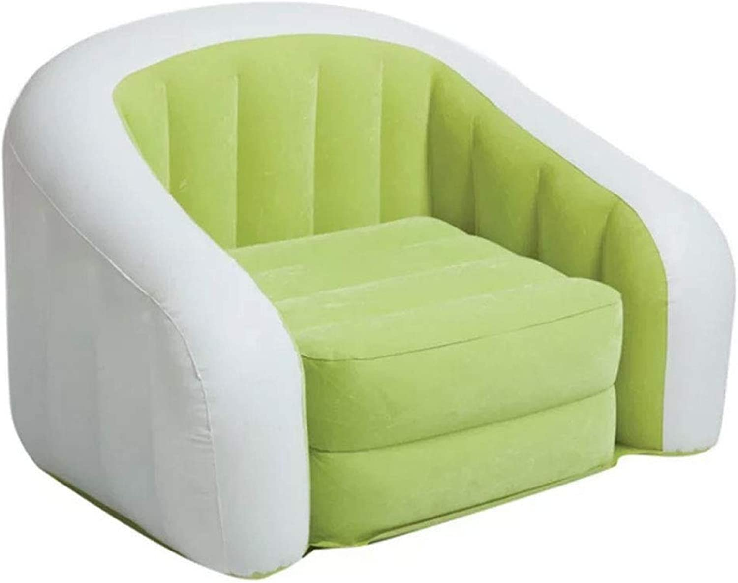 Inflatable Sofa Lazy Luxury Flocked Sofa- Applicable to Indoor and Outdoor (color   Green)