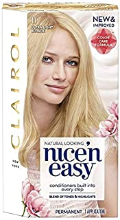 Clairol Nice'n Easy Permanent Hair Color, 11 Ultra Light Blonde, Pack of 3