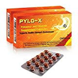 PYLO-X Pylopass and Vitamin E Supplement Capsules - Lactobacillus Reuteri - Natural Solution to Help Reduce & Manage Helicobacter Pylori Load - Healthy Stomach Support & Digestive Comfort - 30 Caps