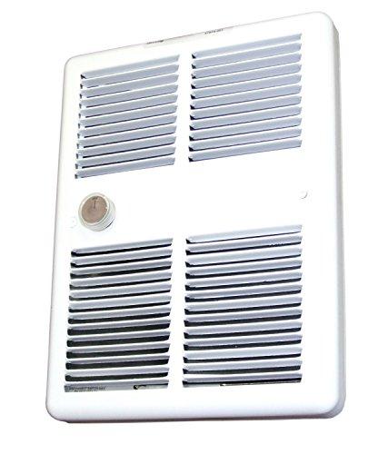 TPI HF3222T2RPW Series 3200 Midsized Fan Forced Wall Heater w/ 2 Pole Thermostat, Standard, White, 2250/1688 W