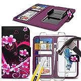 i-Tronixs (Love Heart 155 x 76.9mm) Printed Design Tasche Hülle für Ulefone T1 Kastenabdeckung Beutel Qualitäts-Thin-Leder-Buch-Art-Beutel Federklammer Clip auf Adjustable Buch + Glas-Schirm-Schutz