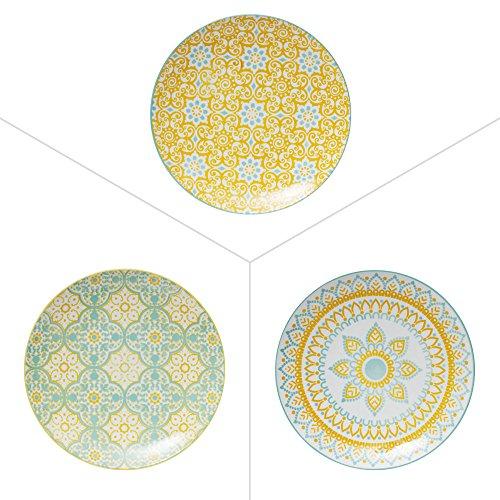 Table Passion - Assiette à dessert mikado 20 cm décors assortis (lot de 6)