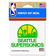 "Officially Licensed Product of the NBA 4""x4"" Perfect Cut Decal Vibrant Team Colors"
