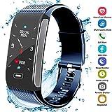 Montre Connectée, Fitness Tracker d'Activité Bracelet avec Podomètre Moniteur de Fréquence Cardiaque IP67 Étanche Écran...