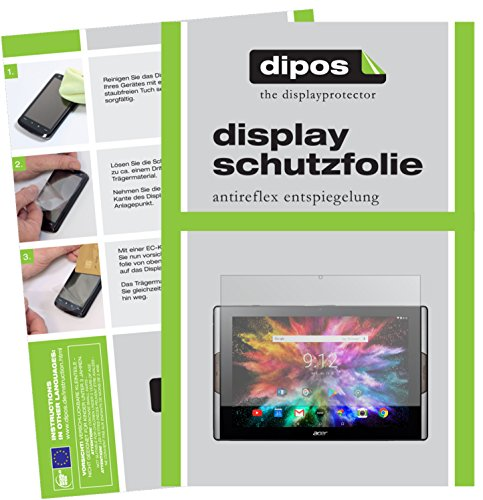 dipos I 2x Screen Protector matte compatible with Acer Iconia Tab 10 A3-A50 Protection Films