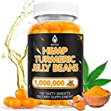 Hemp Jelly Beans, Turmeric Supplement for Pain, Anxiety, Stress & Inflammation Relief Premium 1,000,000- High Potency Curcumin Gummies Turmerics Candies for Support Immune, Joint, Sleep, Mood-150Cts