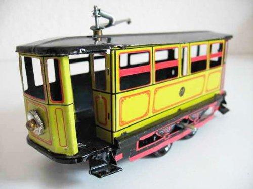 Blechspielzeug zum Aufziehen tin toys wind up-Straßenbahn orange Spielzeug(Einfuhr aus Hong Kong )