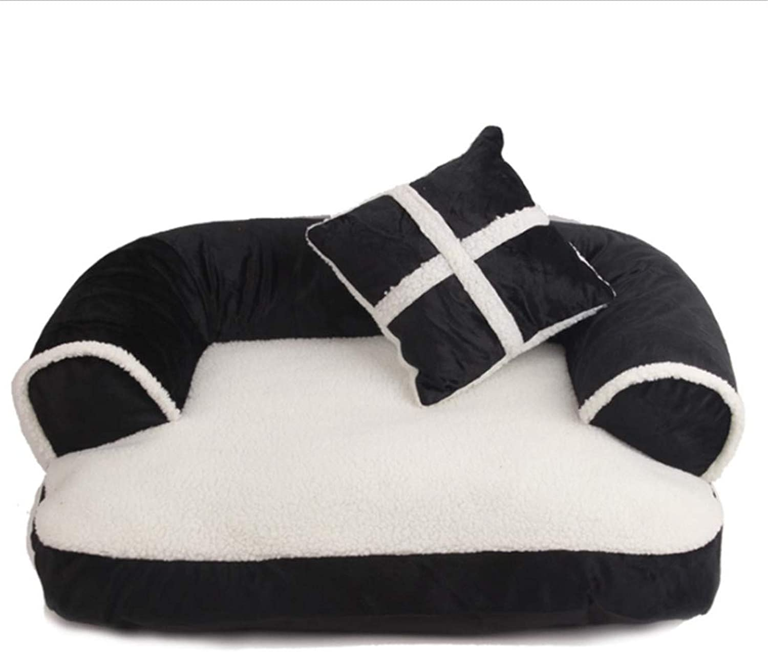 Fashion Kennel Cat Nest Pet Sofa Four Seasons Universal Filled PP Cotton Soft and Warm Detachable Cleaning Includes Pillows   3 Sizes