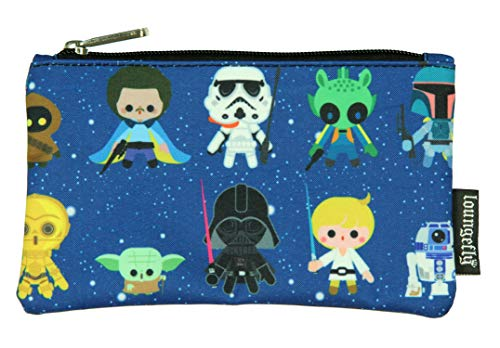 Loungefly Star Wars Mini Characters All Over Print School Pencil Case
