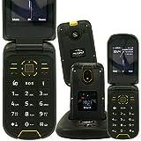 Mobiho-Essentiel Le Clap BAROUDEUR - Le clapet Robuste & IP68 - Téléphone Portable Senior 2G & 3G, Complet avec app Photo 2MP,...