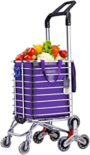 Folding Portable Household cart Trolley Stainless Steel Triangle Wheel Foldable Does not take up Space
