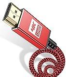 Cable HDMI 4K,Sweguard Cable HDMI de alta velocidad 2.0 Ultra 18Gbps 4K a 60Hz compatible con vídeo UHD 2160p, HD 1080p, 3D, Ethernet, HDCP 2.2 ARC, compatible Fire TV Xbox PS3 PS4 (1.5m, rojo)