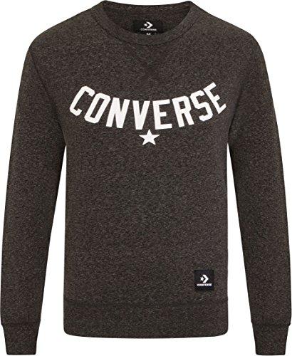 Converse - Sudadera - para Hombre Gris Negro Melange Small