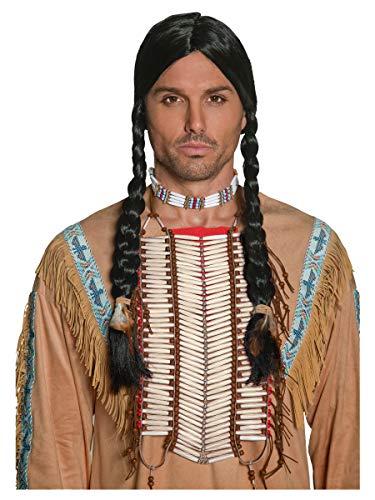 Smiffys-36177 Coraza Inspirado por los Americanos nativos, Blanca, Color Crema, No es Applicable (Smiffy