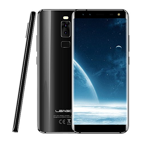 LEAGOO S8 3GB RAM 32GB ROM 5.72 Inch Dual Curved Edge Android 7.0 MTK6750T Octa Core up To 1.5GHz WCDMA GSM FDD-LTE (Black)