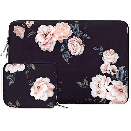 Simplicity Laptop Sleeve For Macbook Dell Hp Asus Acer Lenovo 11 12 13.3 14 15 Inch Laptop Bag Case For MacPro 13 15 Notebook Bags (Color : Apricot Peony, Size : 11-11.6 inch)